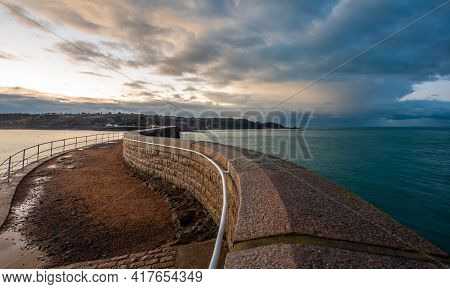 View From The End Of Saint Catherine's Breakwater, Bailiwick Of Jersey, Channel Islands