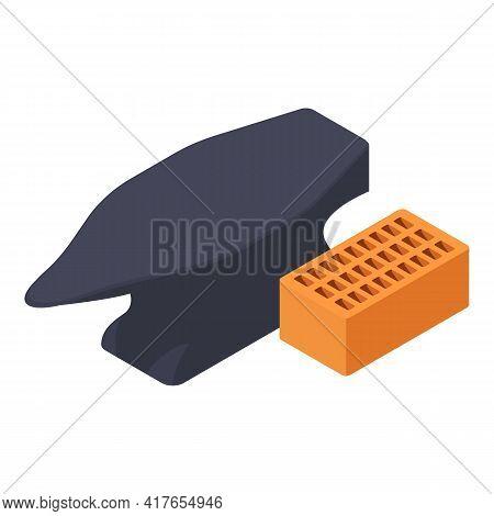 Blacksmith Tool Icon. Isometric Illustration Of Blacksmith Tool Vector Icon For Web