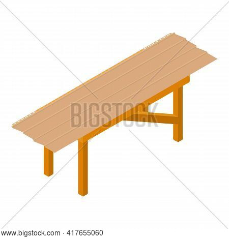 Workshop Table Icon. Isometric Illustration Of Workshop Table Vector Icon For Web