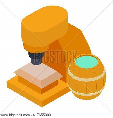 Blacksmithing Concept Icon. Isometric Illustration Of Blacksmithing Concept Vector Icon For Web