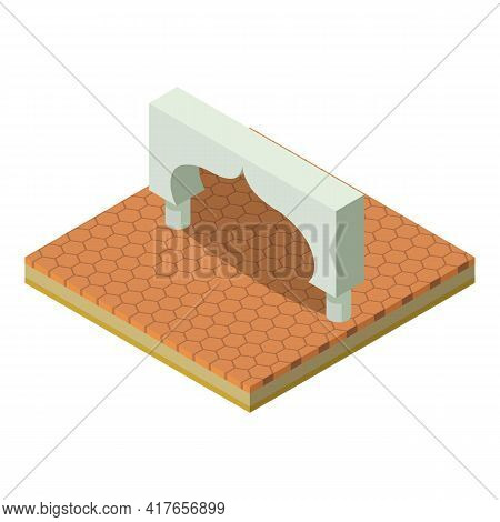East Arch Icon. Isometric Illustration Of East Arch Vector Icon For Web
