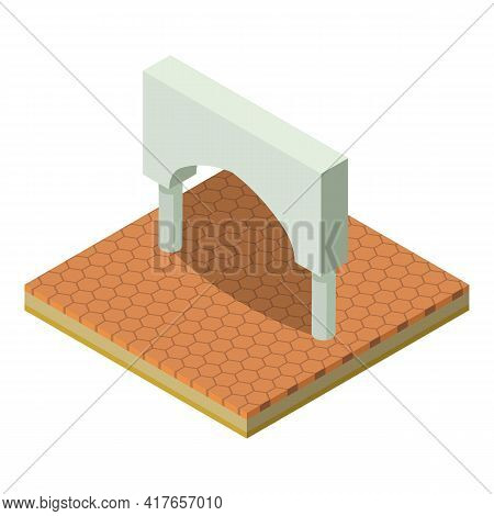 Rome Arch Icon. Isometric Illustration Of Rome Arch Vector Icon For Web