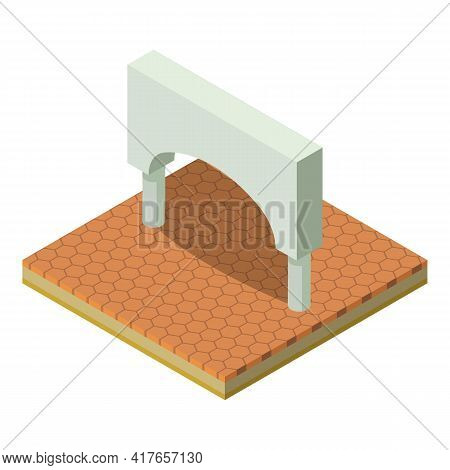 Arched Structure Icon. Isometric Illustration Of Arched Structure Vector Icon For Web