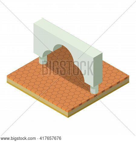 Moroccan Arch Icon. Isometric Illustration Of Moroccan Arch Vector Icon For Web
