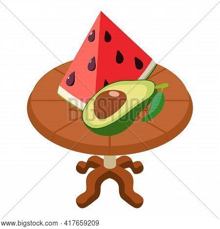 Fresh Food Icon. Isometric Illustration Of Fresh Food Vector Icon For Web