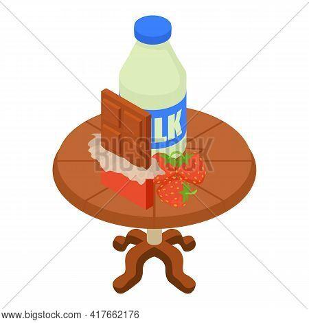 Sweet Dessert Icon. Isometric Illustration Of Sweet Dessert Vector Icon For Web