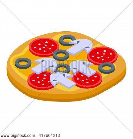 Pita Bread Pizza Icon. Isometric Of Pita Bread Pizza Vector Icon For Web Design Isolated On White Ba