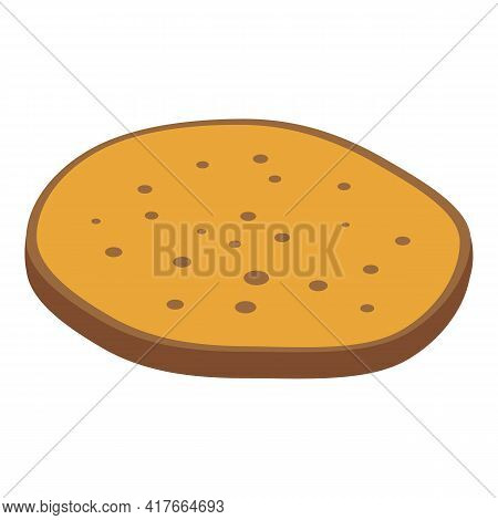 Pita Bread Cooked Icon. Isometric Of Pita Bread Cooked Vector Icon For Web Design Isolated On White