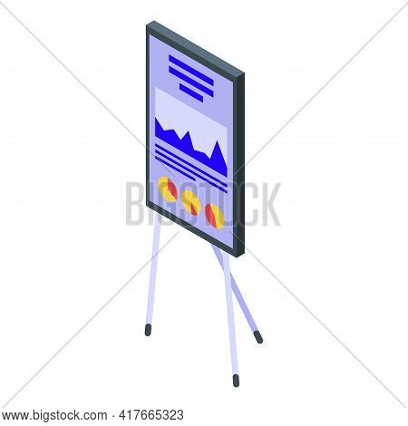 Business Dashboard Icon. Isometric Of Business Dashboard Vector Icon For Web Design Isolated On Whit