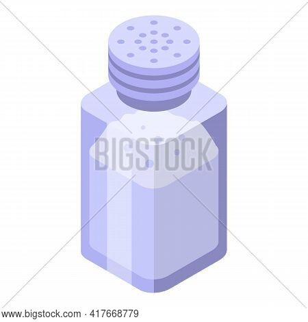Salt Pot Icon. Isometric Of Salt Pot Vector Icon For Web Design Isolated On White Background