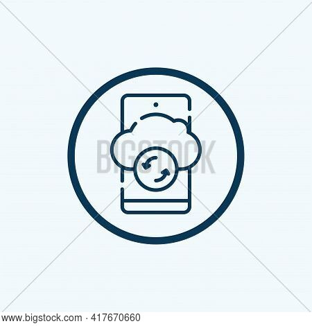 Cloud Storage Icon Isolated On White Background From Internet Of Things Collection. Cloud Storage Ic