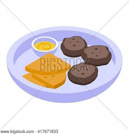 Breakfast Falafel Icon. Isometric Of Breakfast Falafel Vector Icon For Web Design Isolated On White