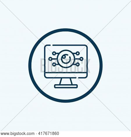Monitor Icon Isolated On White Background From Manufacturing Collection. Monitor Icon Thin Line Outl
