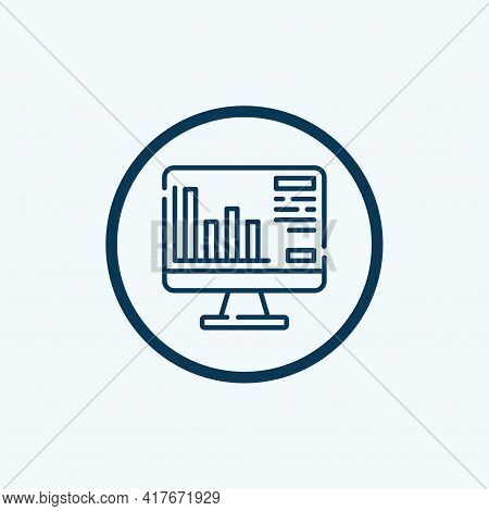 Analysis Icon Isolated On White Background From Business Collection. Analysis Icon Thin Line Outline