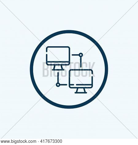 Local Network Icon Isolated On White Background From Networking Collection. Local Network Icon Trend
