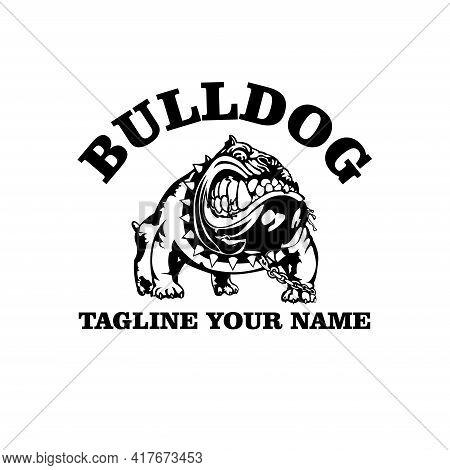 Bulldog Design Logo Illustration. Bulldog Animal Logo Vector