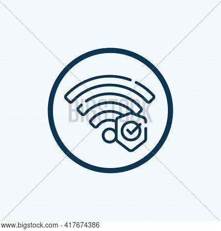 Wifi Security Icon Isolated On White Background From Internet Security Collection. Wifi Security Ico
