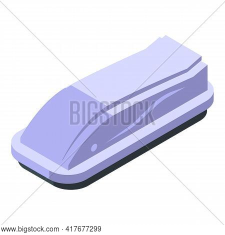Cover Car Roof Box Icon. Isometric Of Cover Car Roof Box Vector Icon For Web Design Isolated On Whit