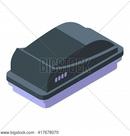 Car Roof Cover Box Icon. Isometric Of Car Roof Cover Box Vector Icon For Web Design Isolated On Whit