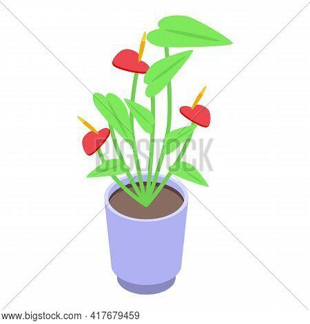 Flower Allergy Icon. Isometric Of Flower Allergy Vector Icon For Web Design Isolated On White Backgr