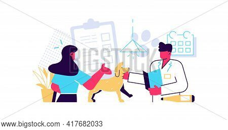 Visit To Veterinarian Clinic And Pet Healthcare