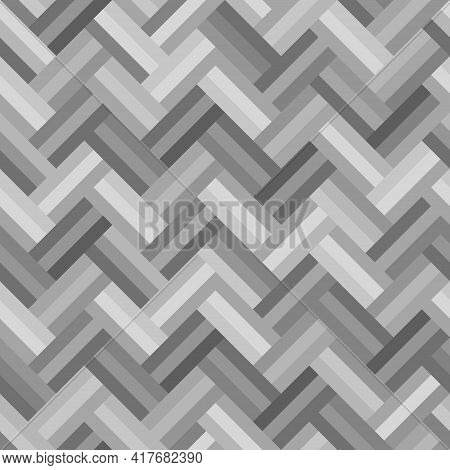 Gray Rectangle Pattern Three Layers Arranged In A Zigzag Seamless Background. Textured Design For Fa