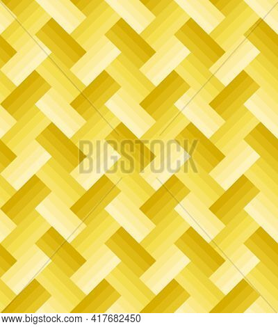 Yellow Gradient Rectangle Pattern, Three Layers Zigzag Arrangement, Seamless Background. Textured De