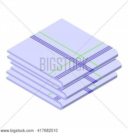 Dining Handkerchief Icon. Isometric Of Dining Handkerchief Vector Icon For Web Design Isolated On Wh
