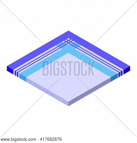 Towel Handkerchief Icon. Isometric Of Towel Handkerchief Vector Icon For Web Design Isolated On Whit