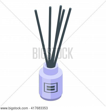 Sticks Air Freshener Icon. Isometric Of Sticks Air Freshener Vector Icon For Web Design Isolated On