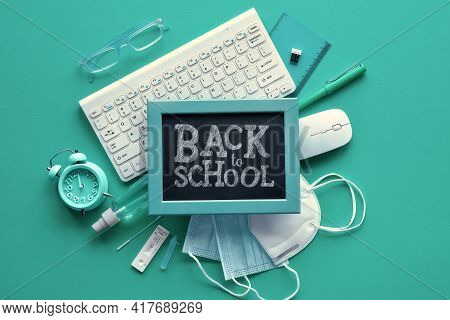 Back To School, Corona Pandemic Reopening With Certain Restrictions, After Quarantine. Covid Antigen