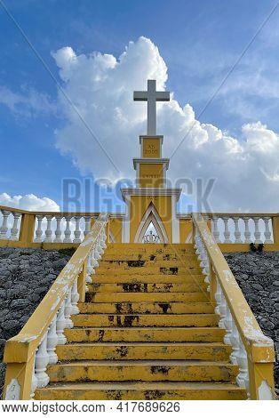 Bonaire - January 23, 2021 : Point View Cruz Seru Largu.