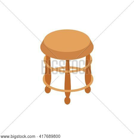 Pawn Shop Isometric Composition With Isolated Image Of Vintage Chair Vector Illustration