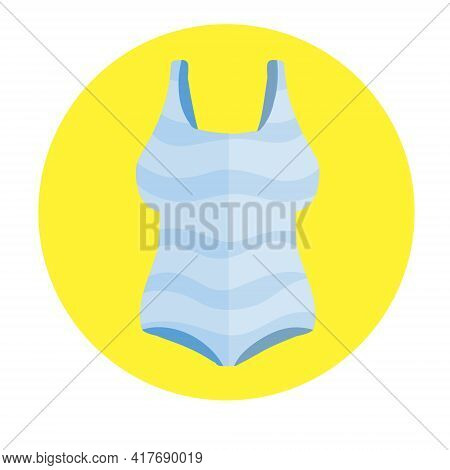 Red Bathing Suit. Women Beachwear. Modern Fashionable One-piece Swimsuit For Swimming And Sports. Fl
