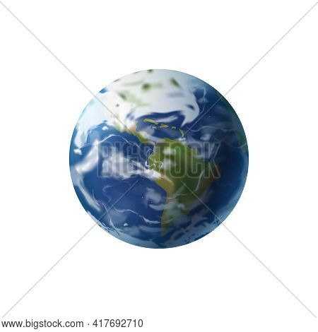Realistic World Day Social Justice Composition With Isolated Image Of Earth Globe Vector Illustratio