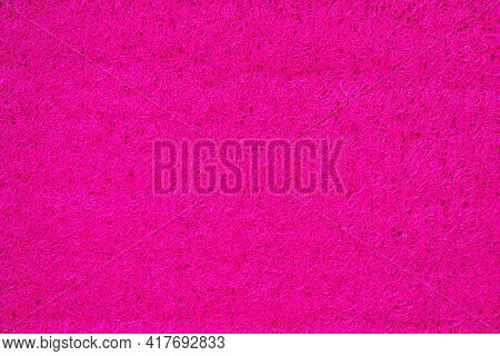 Porous Marerial Made Of Rose Synthetic Thread, Bright Flashy Background