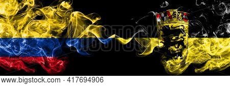 Colombia, Colombian Vs Germany, German, Deutschland, Baden Wurttemberg Smoky Mystic Flags Placed Sid