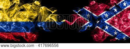 Colombia, Colombian Vs United States Of America, America, Us, Usa, American, Confederate Navy Jack S