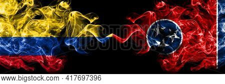 Colombia, Colombian Vs United States Of America, America, Us, Usa, American, Tennessee Smoky Mystic