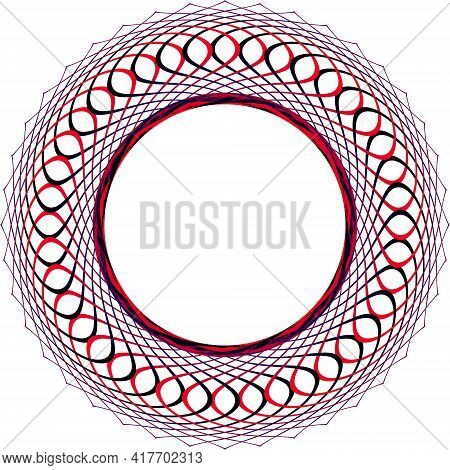 A Circular Pattern Of Repeating Colored Gradient Elements. Clear Contours. Elements Of The Picture.
