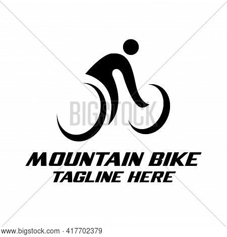 Mountain Bike Design Logo Vector. Mountain Bike Illustration Vector