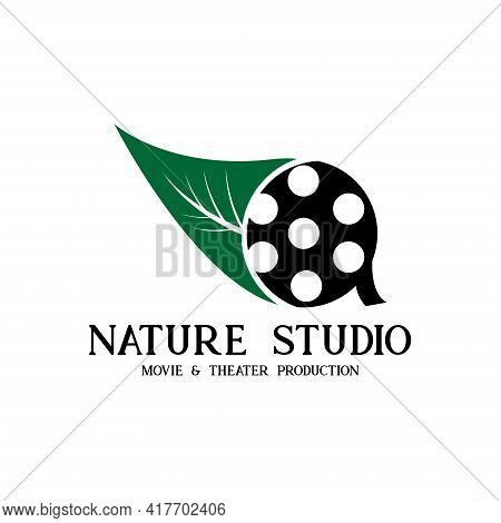 Nature Studio Design Logo Vector. Illustration Nature Studio Vector
