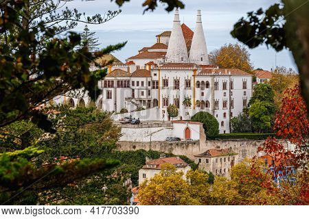 Architectural Detail Of The National Palace Of Sintra, Portugal