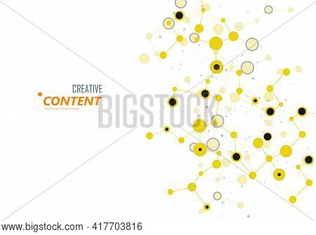 Digital Science Technology Concept. Business Technology Concept. Abstract Low Poly Background. Netwo