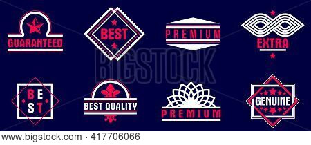 Badges And Logos Over Dark Collection For Different Products And Business, Premium Best Quality Vect