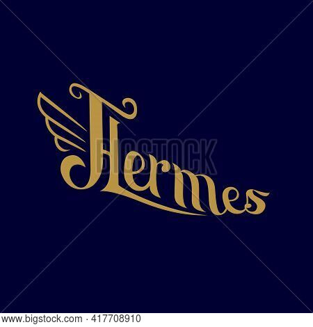 Hermes Wordmark Logo Vector Can Be Used For Logo, Brand Or T-shirt Graphic Or Any Other Purpose