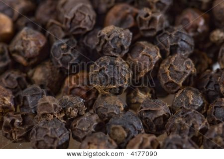 Closeup Of Black Pepper