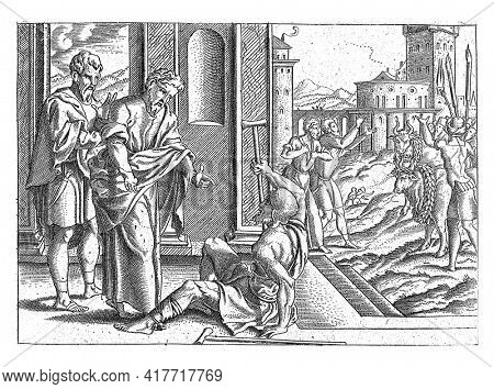 Paul addresses a cripple and then he can walk again. The people of the village of Lystra think that Barnabas and Paul must be Gods.