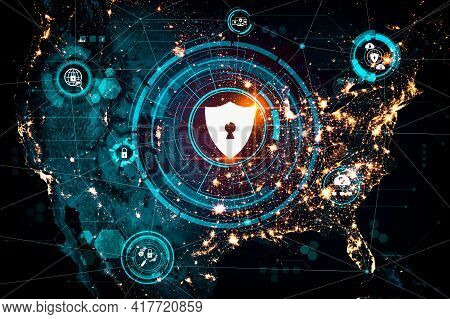 Cyber Security Technology And Online Data Protection In An Innovative Perception . Concept Of Techno