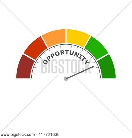 Opportunity Level Meter. Economy And Financial Concept
